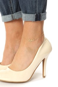 Lucky In Love Gold Love Anklet
