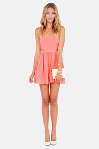 Wild Side Cutout Peach Dress at Lulus.com!