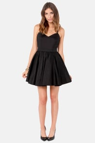 Throw Me a Bow Black Dress at Lulus.com!