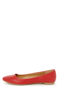 City Classified Sadler Red Pointed Flats