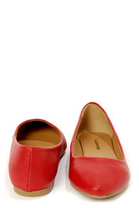 City Classified Sadler Red Pointed Flats at Lulus.com!