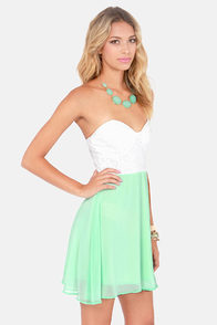 Eyelets Fall In Love Lace Mint Green Dress at Lulus.com!