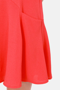 Pocket To Me Coral Red Dress at Lulus.com!