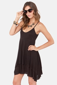 RVCA Silesia Black Dress at Lulus.com!