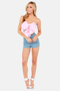 Reverse Tiki Lounge Strapless Pink Bustier Top at Lulus.com!