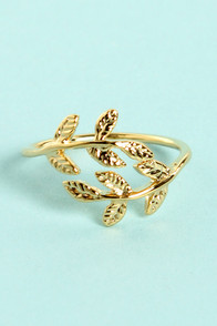 Leaf Me Be Gold Knuckle Ring at Lulus.com!