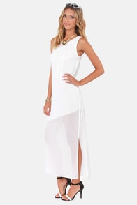 Askews Me Miss Ivory Maxi Dress at Lulus.com!
