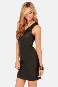 Born to be Styled Black Vegan Leather Dress at Lulus.com!