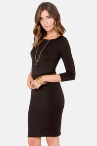 Mt. Ruche-more Black Midi Dress at Lulus.com!