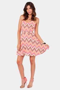 Prints I've Been Loving You Peach Print Dress at Lulus.com!