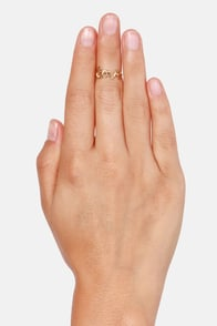 A-Love and Beyond Gold Knuckle Ring at Lulus.com!
