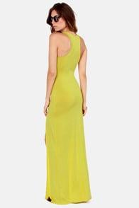 Stem Spells Chartreuse Racerback Maxi Dress at Lulus.com!