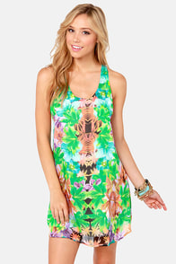 Hot to Trop Backless Floral Print Dress at Lulus.com!