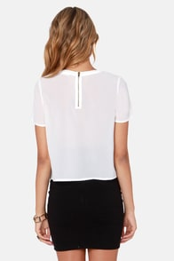 Sheer Review Ivory Top at Lulus.com!