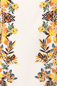 Fronds With Benefits Ivory Floral Print Dress at Lulus.com!