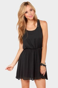 Twice as Nice Black Dress at Lulus.com!