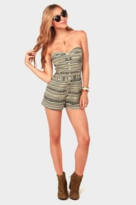 Lucca Couture Fest Bet Black and Ivory Romper at Lulus.com!
