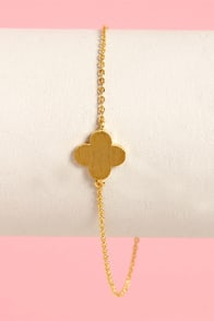 Clover-joyed Gold Anklet at Lulus.com!