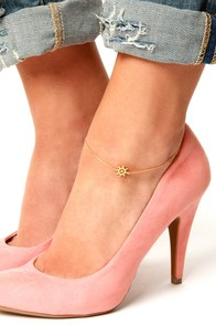 Steer the Ship Gold Anklet at Lulus.com!