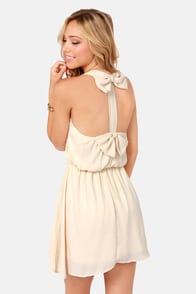 Twice as Nice Cream Dress at Lulus.com!