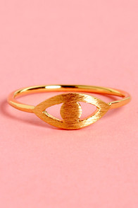 Vision Quest Gold Eye Ring at Lulus.com!