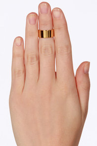 One Ma'am Band Gold Knuckle Ring at Lulus.com!