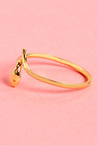 Slithered in Jewels Gold Snake Knuckle Ring at Lulus.com!