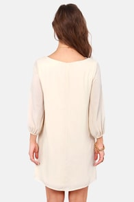 Scroll-House Rock Cream Shift Dress at Lulus.com!