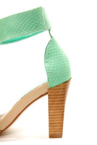 Chinese Laundry Balance Natural and Teal Single Strap Sandals at Lulus.com!