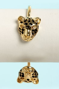 The Great Cats-by Gold Leopard Clutch Bracelet at Lulus.com!