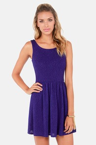 A Feel For Fashion Backless Indigo Dress at Lulus.com!
