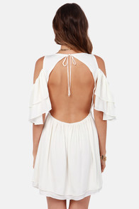 Salsa Dancer Backless Ivory Dress at Lulus.com!