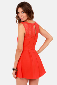 Day at the Laces Red Lace Romper at Lulus.com!