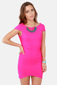Fire with Fire Backless Neon Pink Dress at Lulus.com!