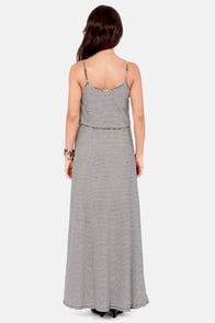 Front of the Line Black and White Striped Maxi Dress at Lulus.com!