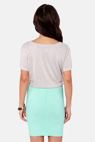 Billabong Both Sides of Sea Grey Print Top at Lulus.com!