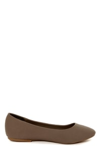 Dollhouse Yum Taupe Classic Ballet Flats at Lulus.com!