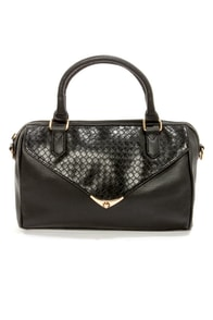 Peaceful Weave-y Feeling Black Purse at Lulus.com!