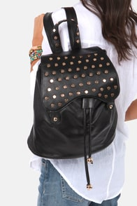 In Stud-er Words Studded Black Backpack at Lulus.com!
