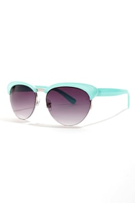Cupcake Aqua Blue Sunglasses at Lulus.com!