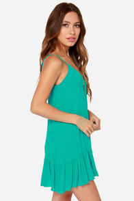Let It Flow Teal Dress at Lulus.com!