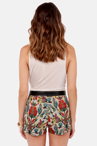 Pattern of the Century Tapestry Shorts at Lulus.com!