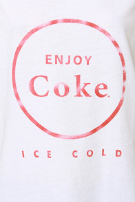 Chaser Enjoy Coke Ice Cold White Muscle Tee at Lulus.com!