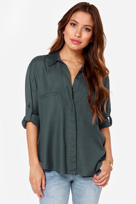 RVCA Talons Charcoal Top at Lulus.com!