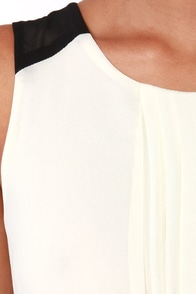 Pintucks Everlasting Black and Ivory Dress at Lulus.com!