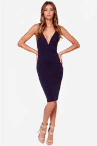 LULUS Exclusive Gracefully Yours Navy Blue Dress at Lulus.com!