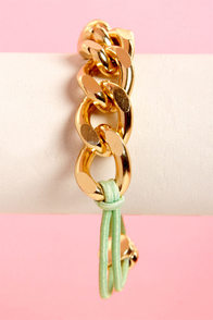 Chain-y Days Mint Green Bracelet at Lulus.com!