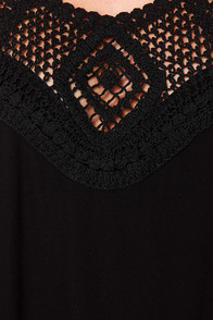 Festival Bound Crochet Black Halter Dress at Lulus.com!