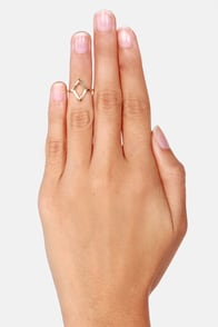 Do or Diamond Gold Knuckle Ring at Lulus.com!