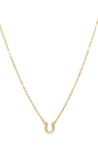 Trojan Horseshoe Gold Necklace at Lulus.com!